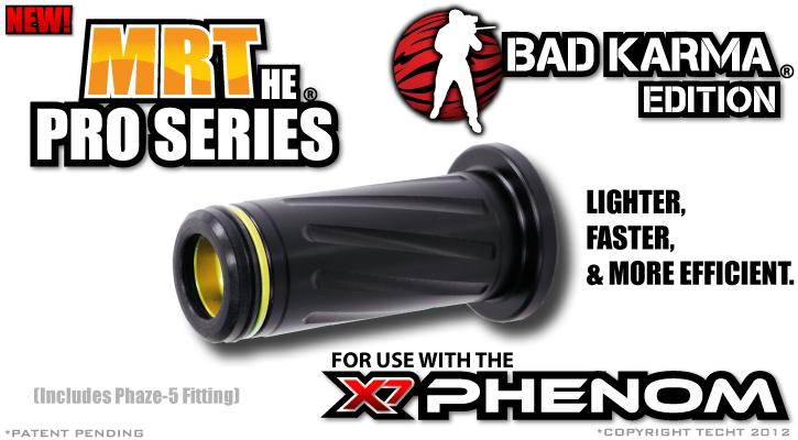 NEW TECHT MRT H.E Delrin Pro Series Tippmann Phenom Bolt w// Phaze-5 Fitting
