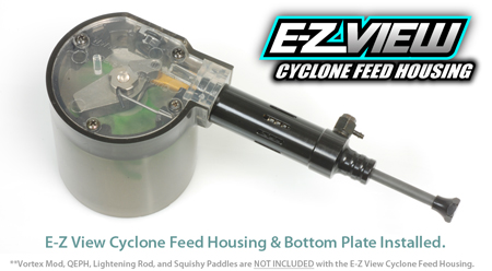 TechT Cyclone Feed Clear Plate Cover Upgrade for all Tippmann A5, X7, and Phenom