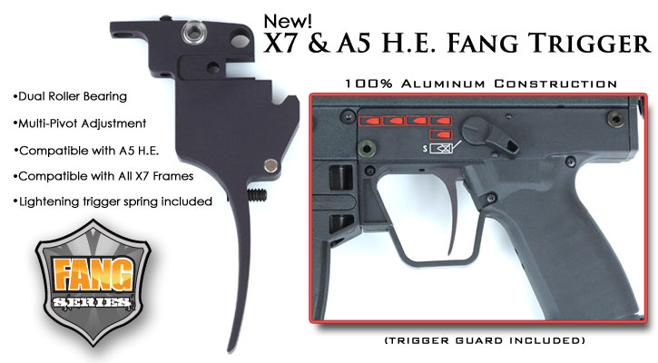 Designed For Maximum Performance The TECHT Fang Trigger X7 And A5 Select Fire Grip Is A Must Anyone Looking To Upgrade Their Marker